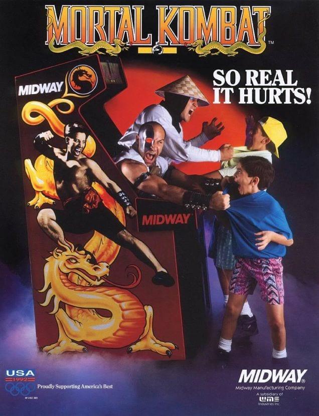 Flyer Mortal Kombat arcade