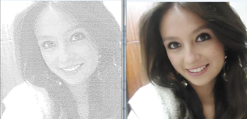 convertir una foto a código ASCII