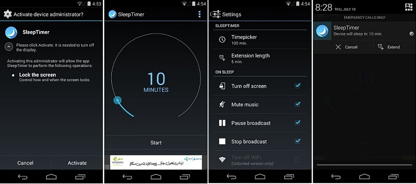 dormir dispositivo móvil Android 02