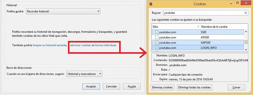 eliminar historial en Firefox 02