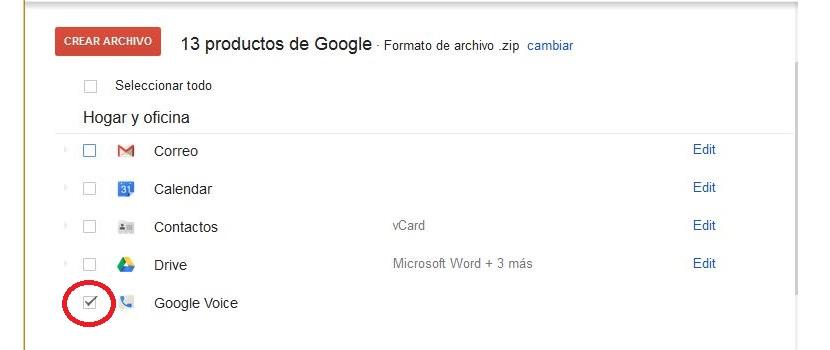 respaldar datos de Google Voice 02