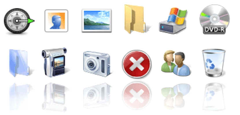 iconos en Windows 7