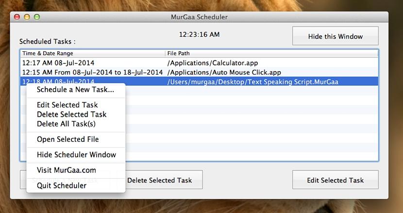 programar tareas en Mac OS X 01