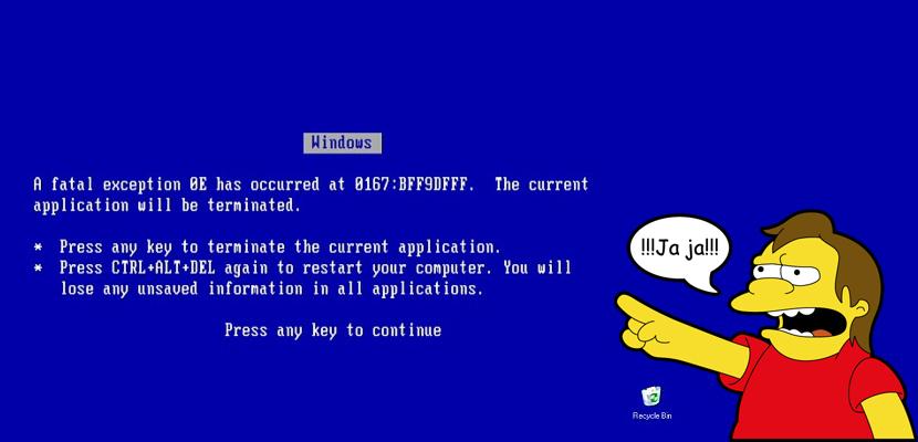 broma del pantallazo azul
