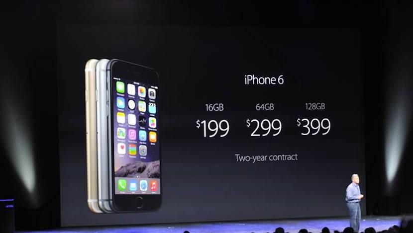 Precios del iPhone 6