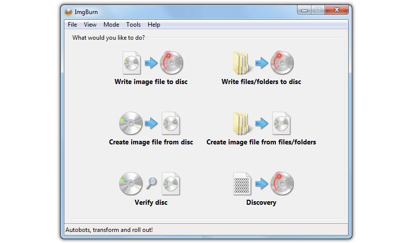 ImgBurn, app para grabar ISO