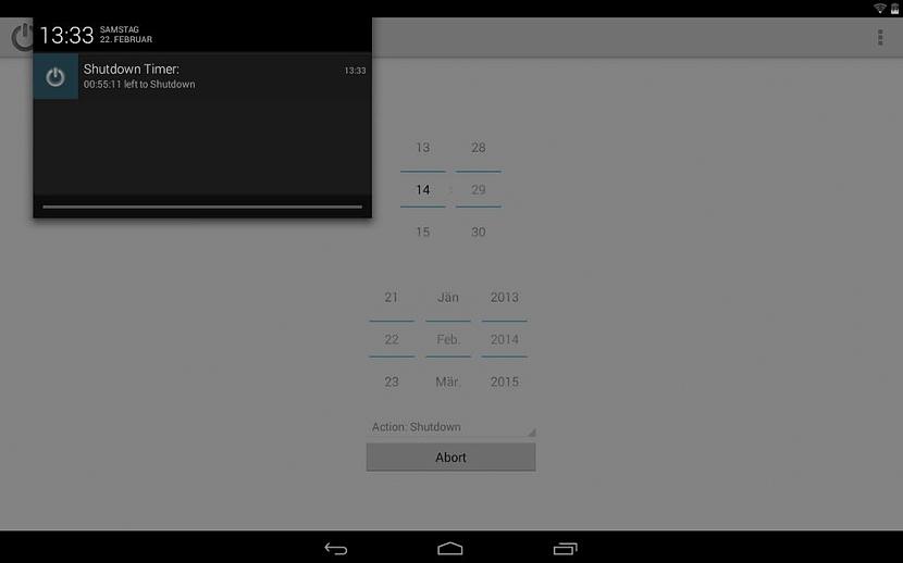 apagar automaticamente dispositivos móviles Android