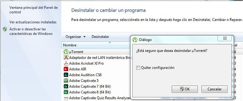 desinstalar aplicaciones y controladores en Windows