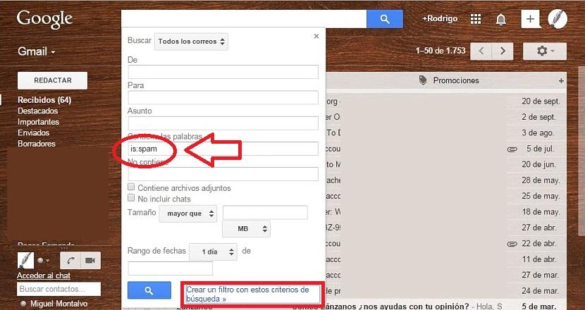 eliminar spam de gmail automaticamente 01