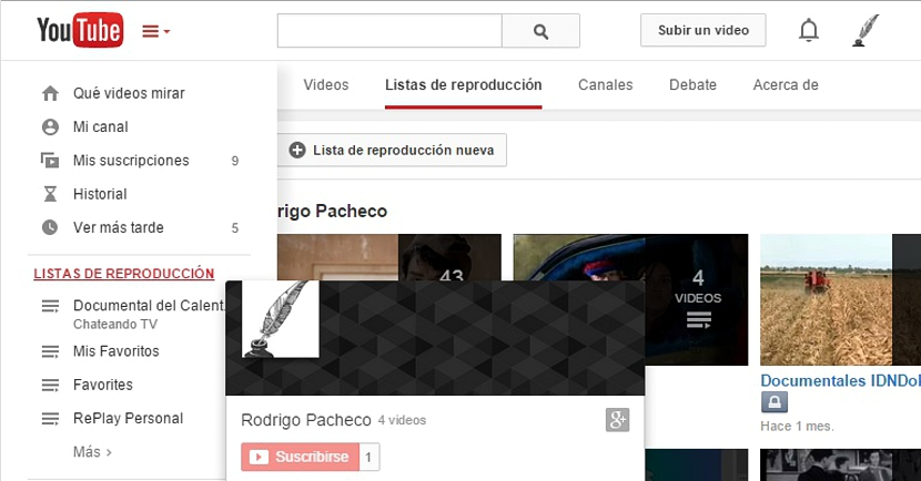 listas de reproduccion de youtube 01