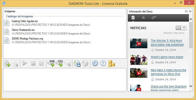 montar imágenes ISO con Daemon Tools 01