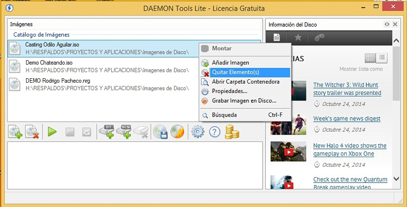 montar imágenes ISO con Daemon Tools 02