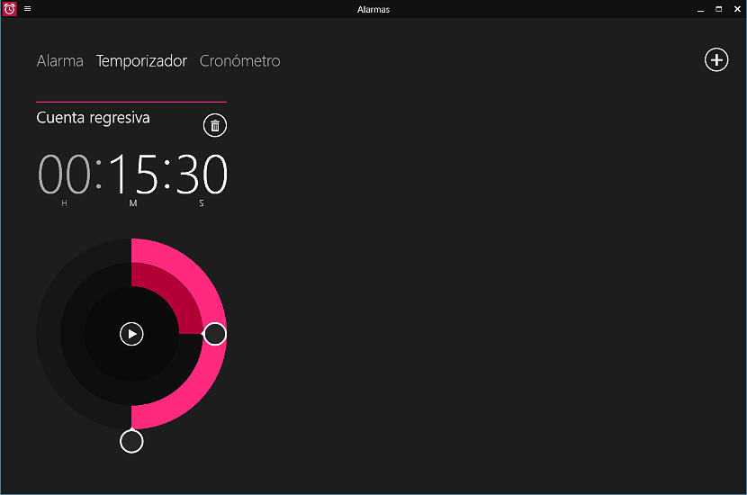 Temporizador en Windows 10