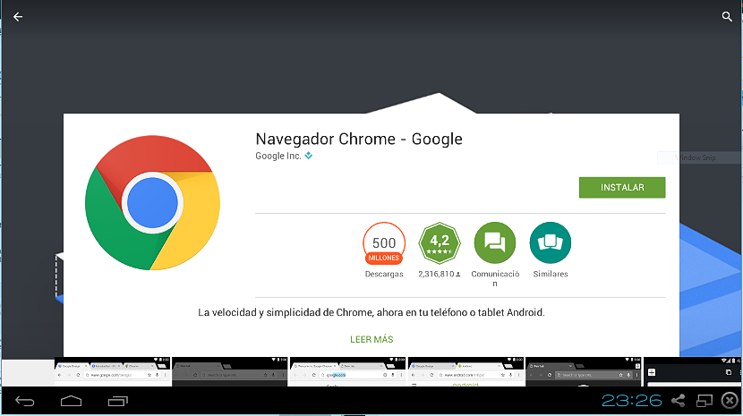 Google Chrome en Android