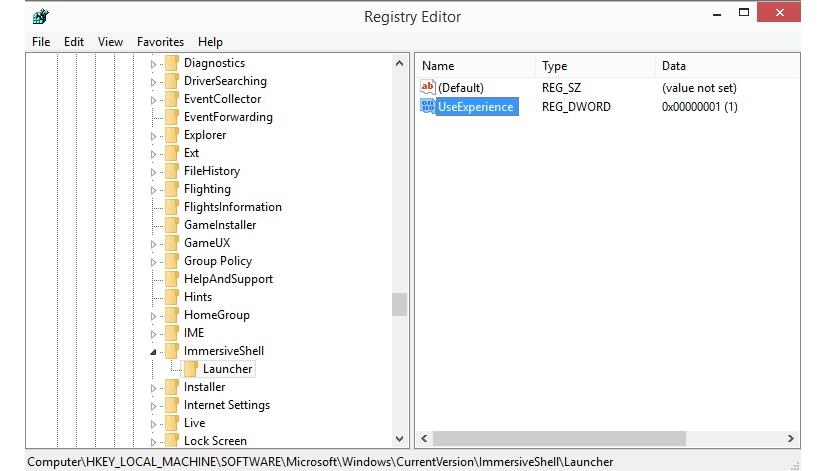 UserExperience en Windows 10 para Continuum