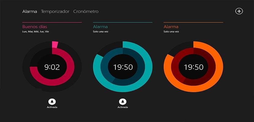 alarma y despertador en Windows 10