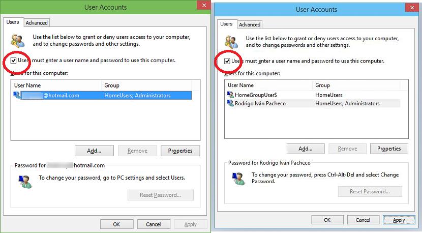 cuentas de usuario en Windows 10