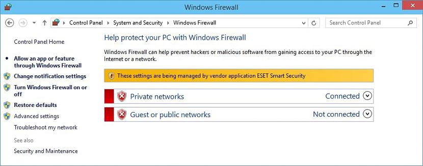 firewall manejado por ESET