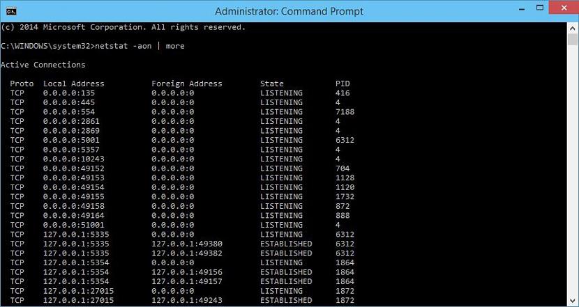 puertos ocupados en Windows 01