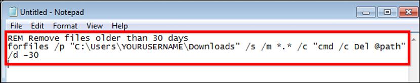 script para eliminar archivos automaticaente