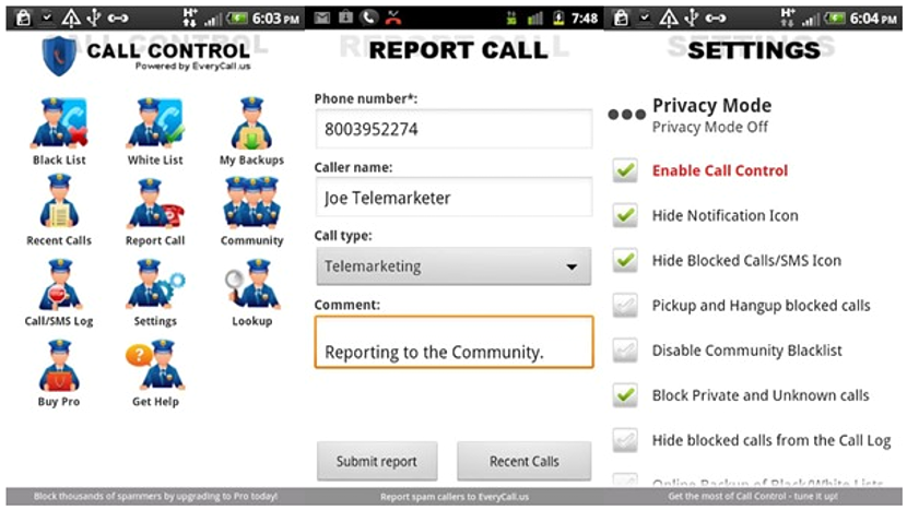 Call Control – Call Blocker