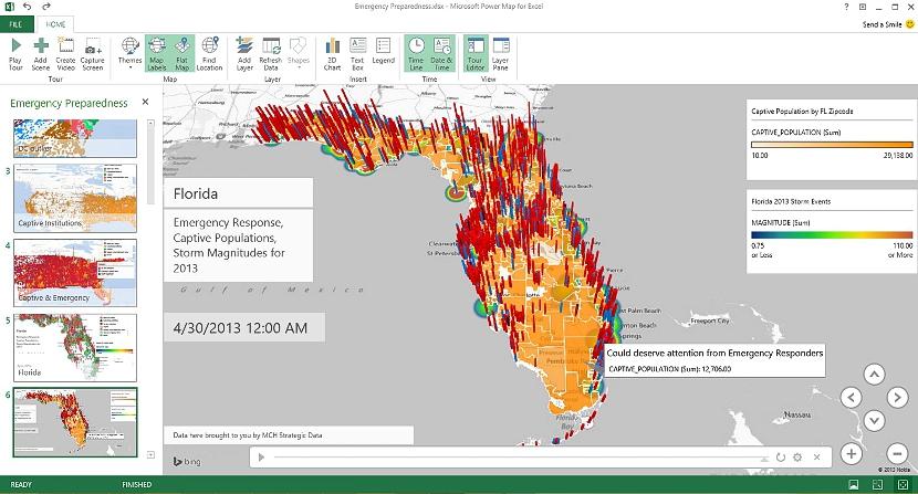 Datos a mapa en Excel