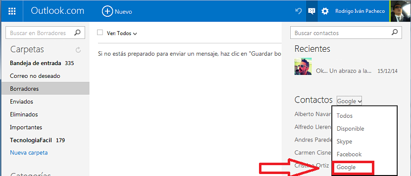 Google Talk en Outlook 03