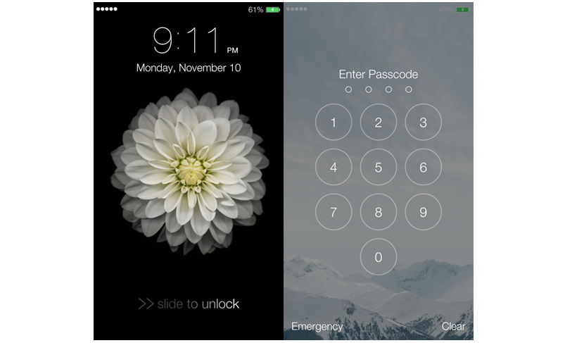 Lock Screen IOS 8