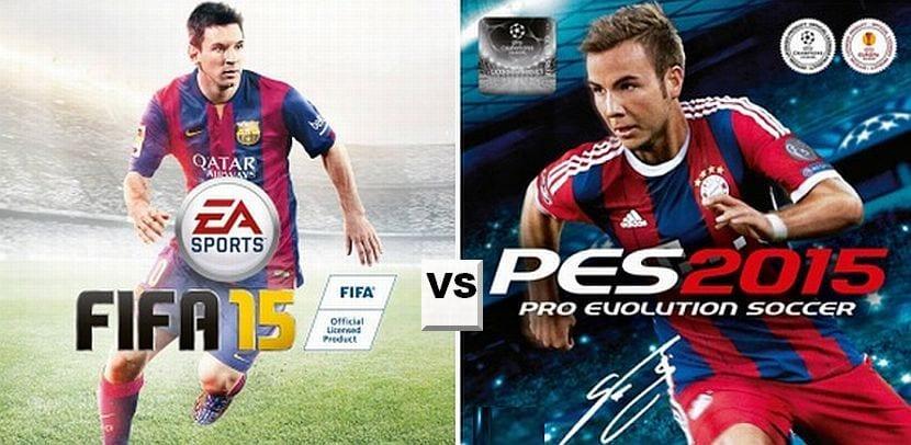 fifa 15 vs PES 2015