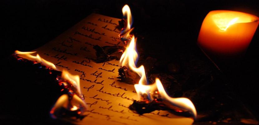 quemar cartas luedo de ser leidas
