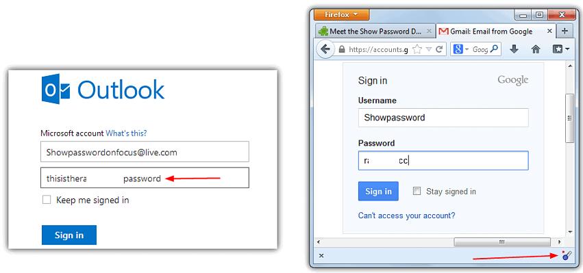 ver contraseñas en Firefox o Chrome