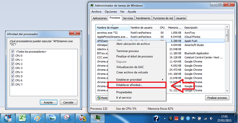 01 nucleos en Windows 7