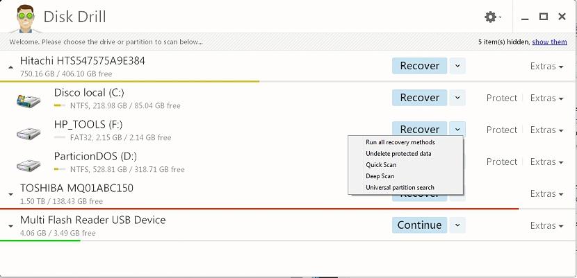Disk Drill para recuperar datos borrados 01