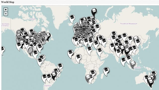 Mapa dead drops