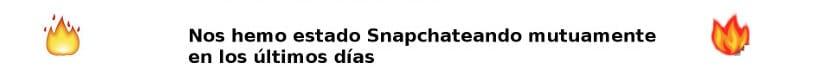 Icono de llamas de Snapchat
