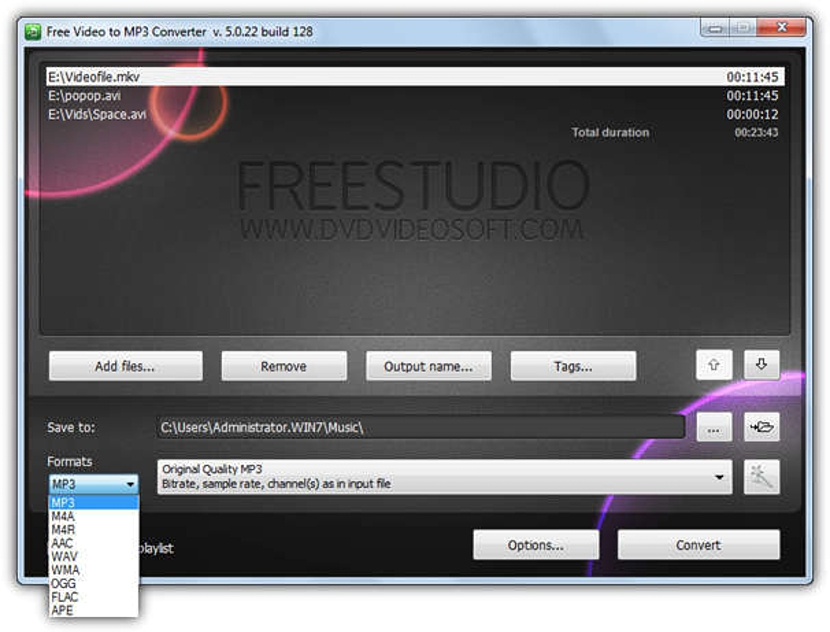 FreeStudio Video to MP3 Converter