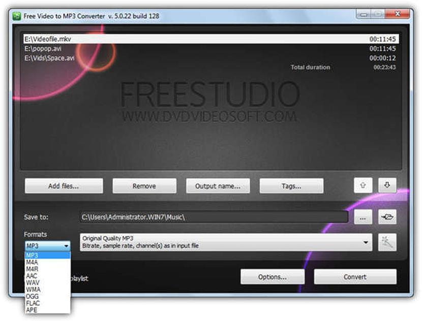 FreeStudio Video to MP3 Converter