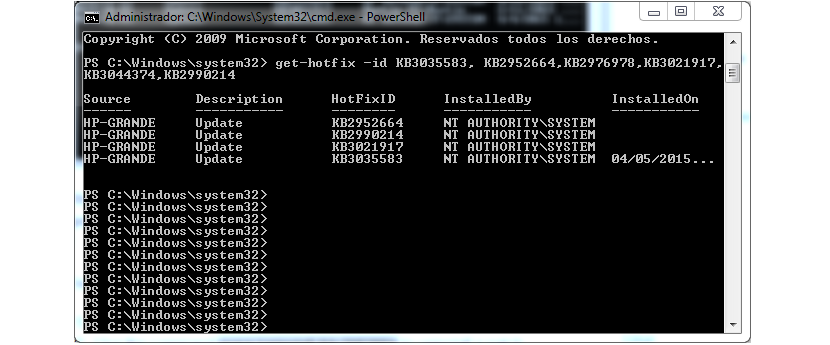 PowerShell en Windows 7
