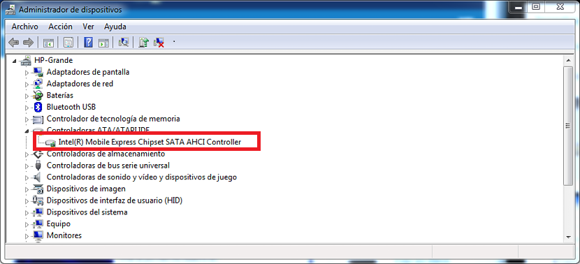 controlador ATA en Windows 7