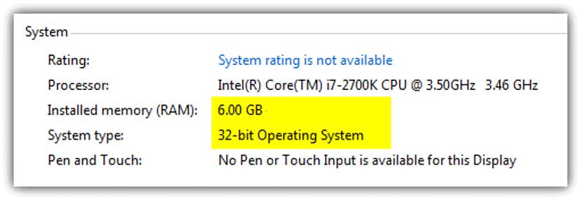 Propiedades de Windows de 32 bits