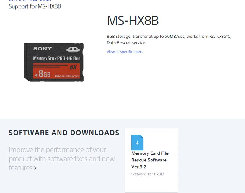 recuperar datos de las tarjetas Sony 02