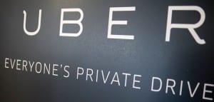 Letrero de Uber