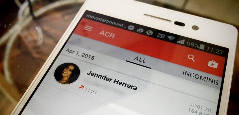 Grabación de la llamadas – ACR