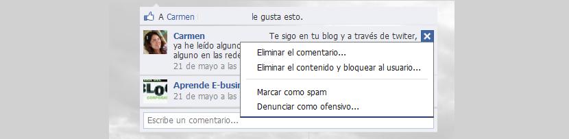 eliminar mensajes de Facebook