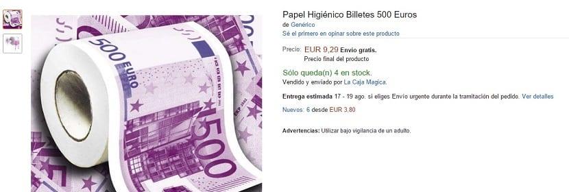 Papel higiénico de 500 euros