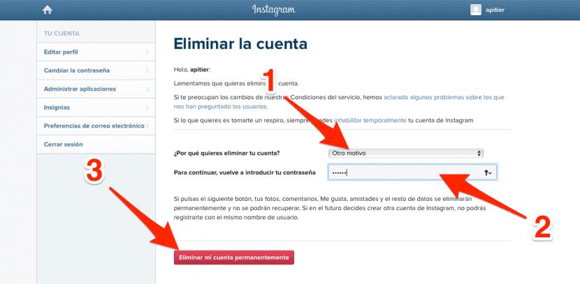 Eliminar-instagram