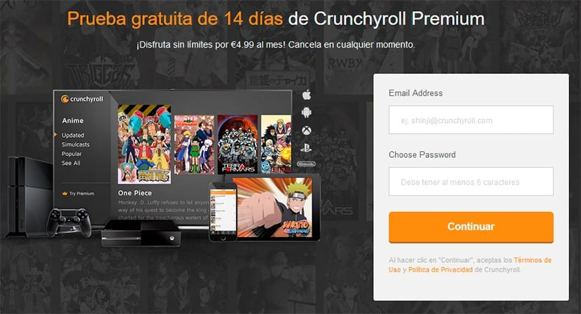 crunchyroll plataforma anime streaming