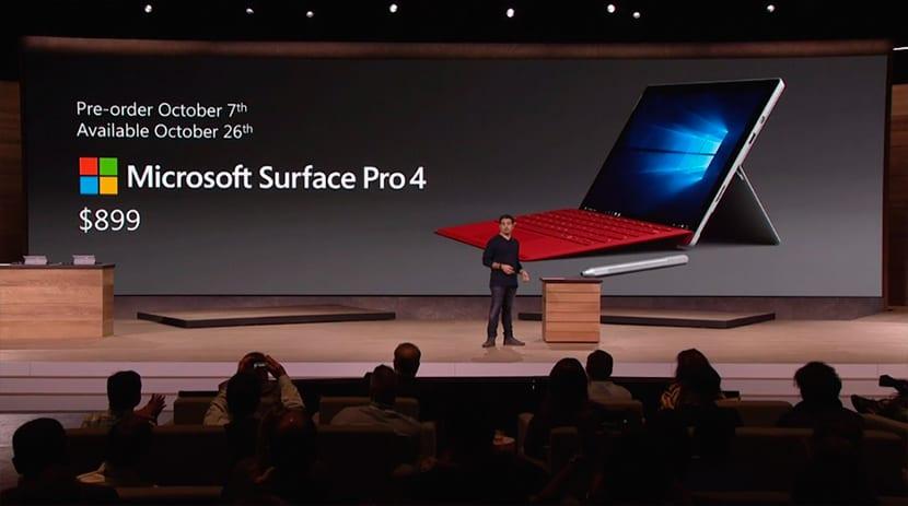 Presentación Microsoft Surface Pro 4