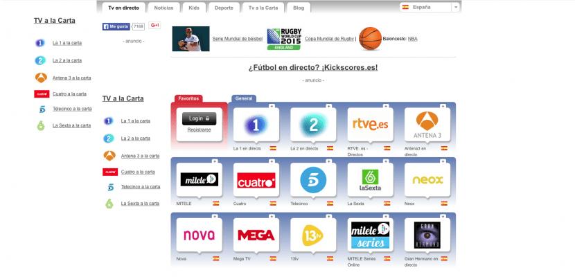 Tele Directo para ver la tele online gratis en español