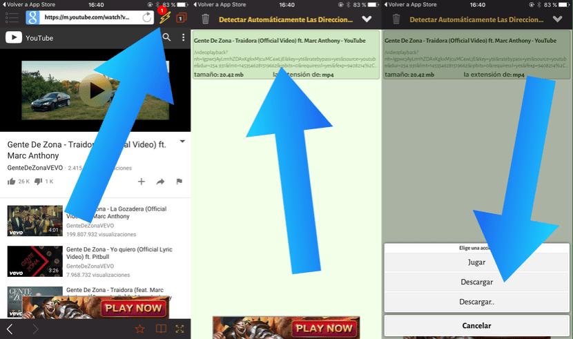 Bajar YouTube iOS